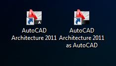autocad deux icônes