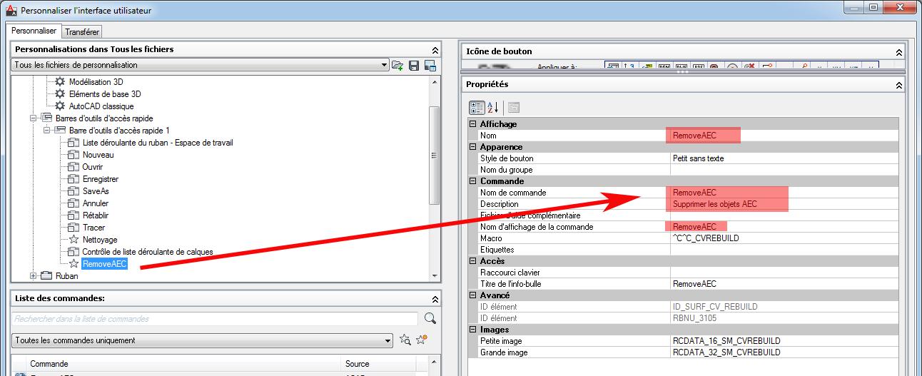 Suppression des objets AEC d'un fichier .DWG