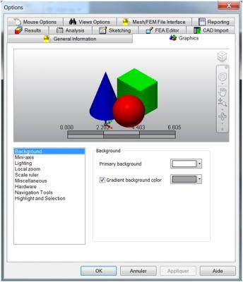 paramètres Autodesk Simulation Mechanical