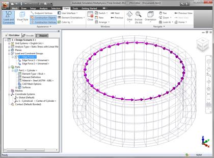 coordonnées local dans Autodesk Simulation Mechanical