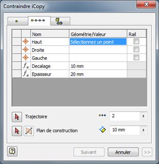 fonction iCopy dans Inventor 2014