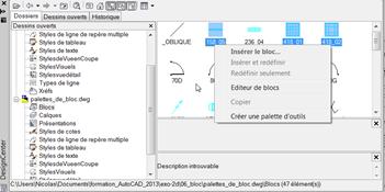 Créer des palettes d'outils avec des blocs