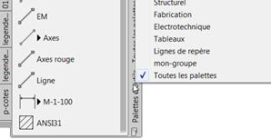 AutoCAD Gérer et importer des palettes d'outils
