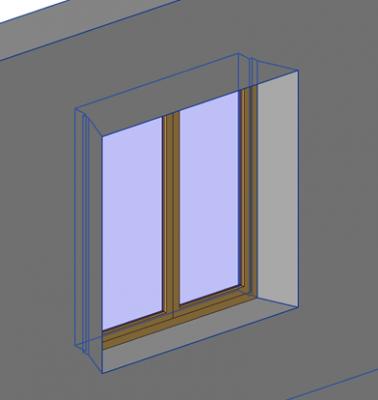 fenêtre personnalisée avec ébrasement