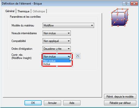 matériau Moldflow dans simulation mechanical