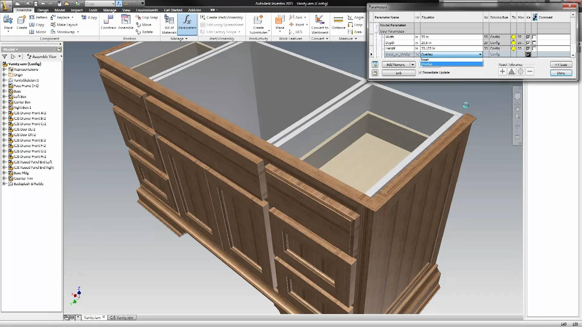 Woodwork for inventor for Logiciel conception meuble