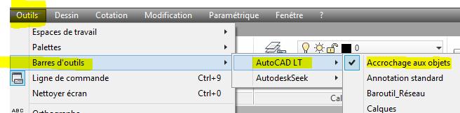 autocad 2017 barre outils