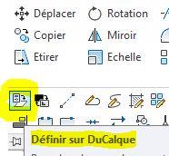 AutoCAD : changer les propriétés des objets en DUCALQUE