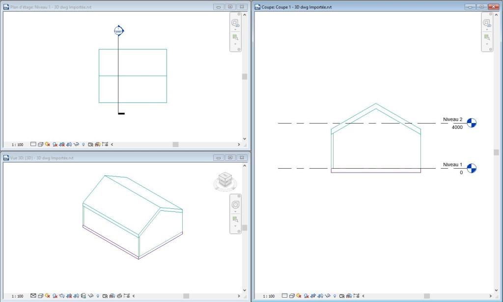 Utiliser et exploiter un dwg 3d dans revit vues en plan for Realiser un plan 3d