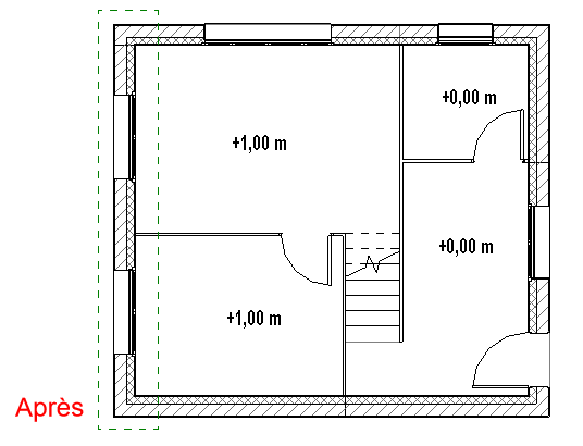 plan de coupe Revit