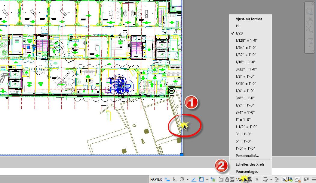 Modifier la liste des echelles autocad aplicit for Fenetre xref autocad
