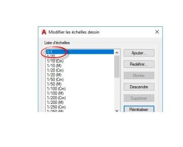 Modifier la liste des Echelles AutoCAD