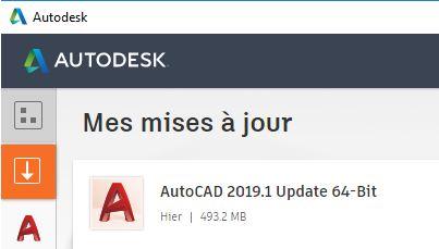 AutoCAD mise à jour 2019.1