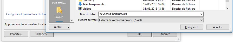 raccourcis clavier dans revit