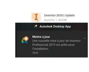 Inventor 2019.1 Update (Correctifs et Service Pack)
