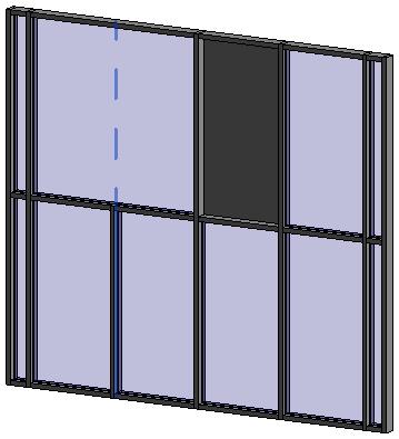quadrillage dans un mur rideau