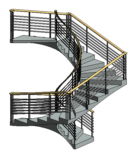 modifier un escalier en colimaçon en esquisse