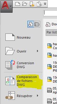 AutoCAD : comparer 2 dessins