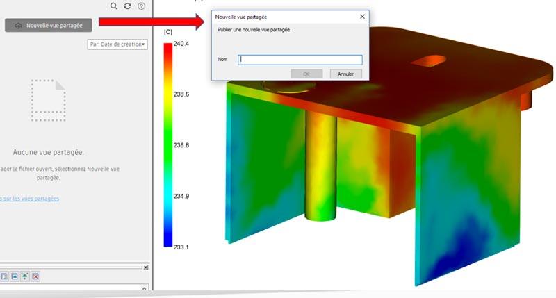 vue partagée dans Autodesk Moldflow Insight