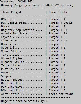 AutoCAD plug-in pour purger un dessin