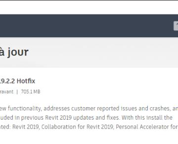 Mise à jour Autodesk Revit 2020.1