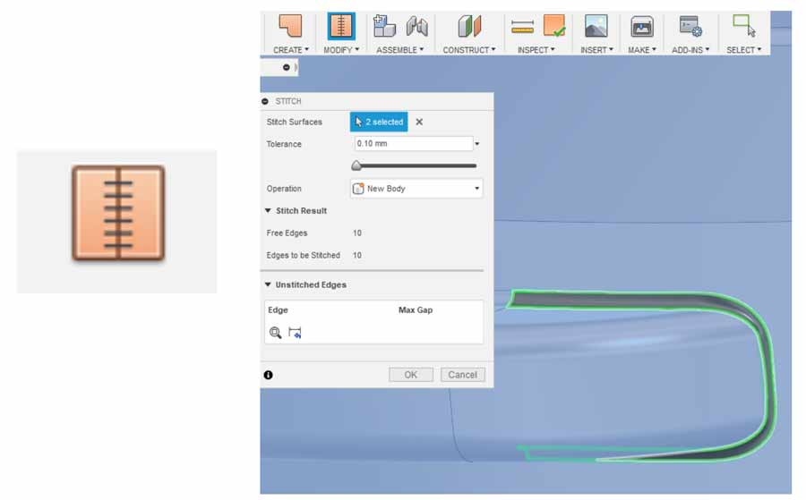 Correction d'un fichier CAO dans FUSION 360