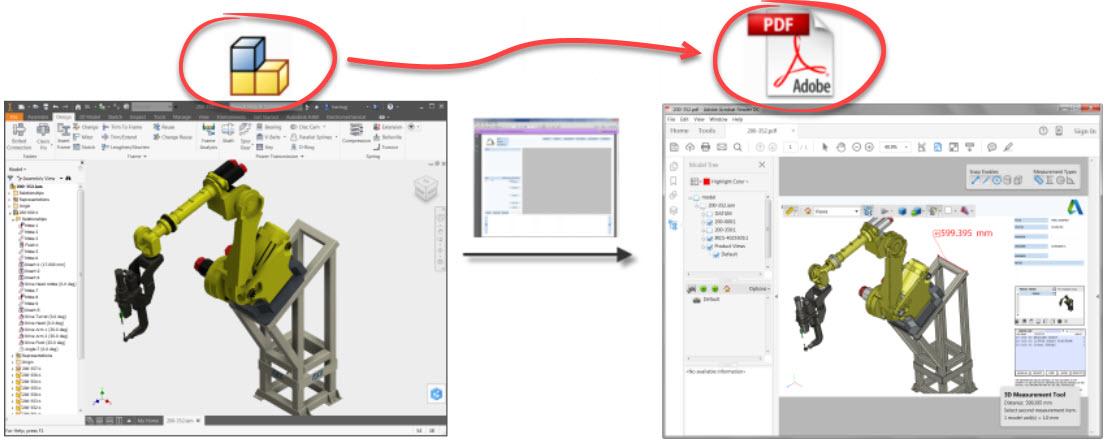 PDF 3D depuis Inventor