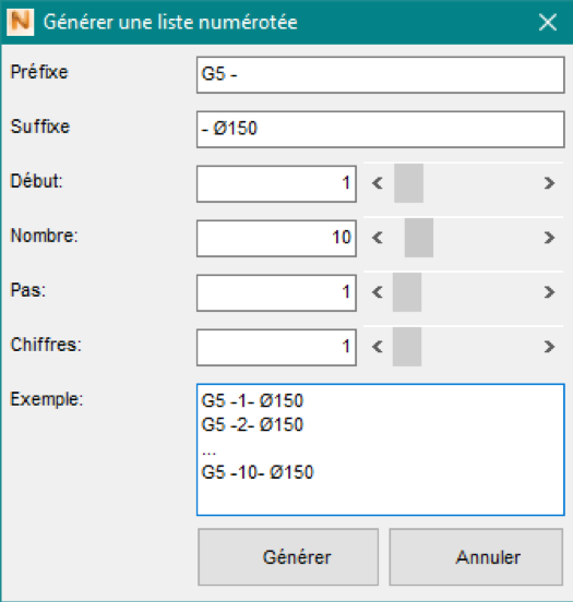 Incrémentation Automatique Netfabb