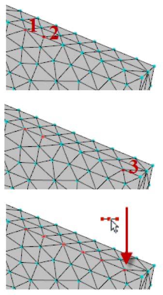 options de sélection des nœuds