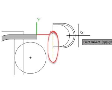 REPERAGE (modificateur de commande) AutoCAD pour un Système de coordonnées relatives