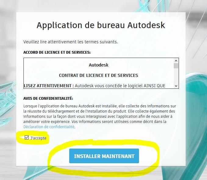 Réinstaller l'application de bureau AUTODESK