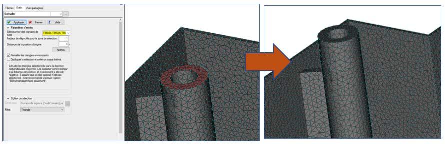 Moldflow modifier directement le maillage