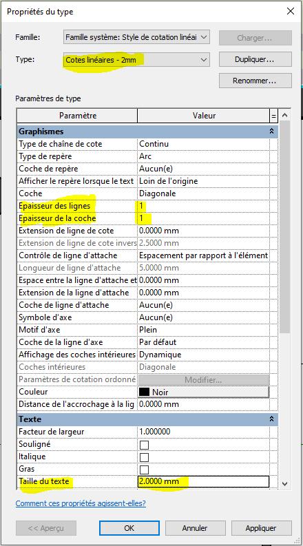 IMG 1 - Modifier epaisseur trait et texte