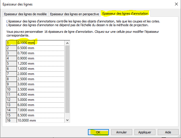 IMG 6- modification epaisseur ligne annotation