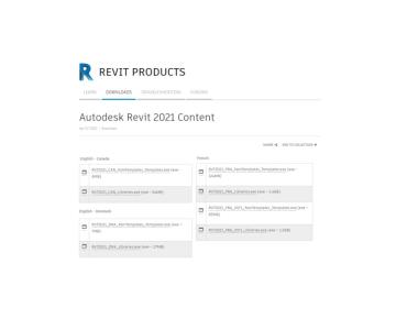REVIT 2021 - Contenu Locaux
