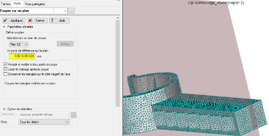 moldflow maillage symetrique