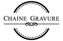 chaine gravure