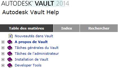 aide d'Autodesk Vault 2014
