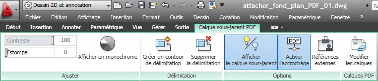 autocad 2011 attacher un fichier pdf
