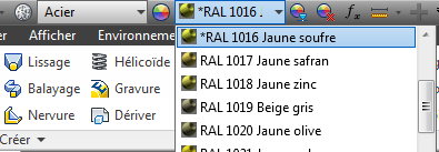 Couleurs RAL pour Inventor 2013