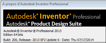 Update 6 pour Inventor 2013 Service Pack 2