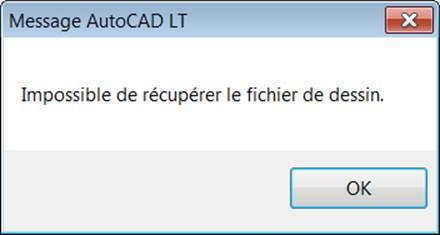 Dessin AutoCAD impossible à ouvrir