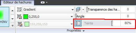 AutoCAD hachures gradients