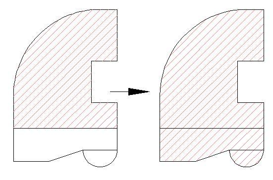 autocad hachures contour