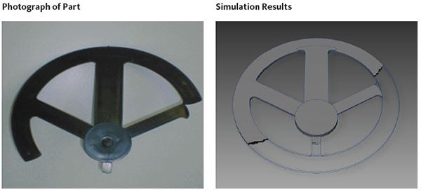 Simulation d'injection plastique