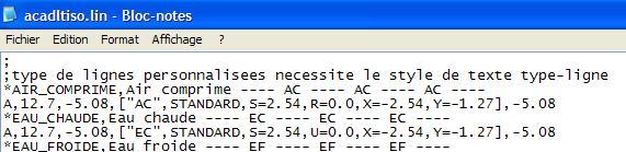 types de ligne AutoCAD